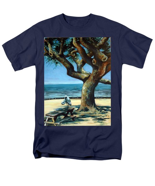 Men's T-Shirt  (Regular Fit) featuring the painting January Afternoon by Suzanne McKee