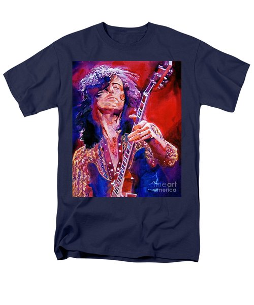 Jimmy Page Men's T-Shirt  (Regular Fit) by David Lloyd Glover