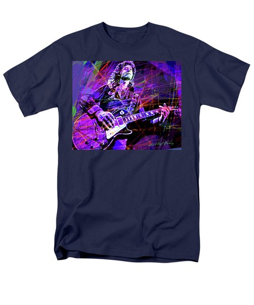 Jimmy Page Solos Men's T-Shirt  (Regular Fit) by David Lloyd Glover