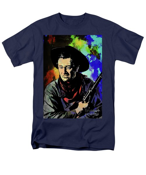 Men's T-Shirt  (Regular Fit) featuring the painting John Wayne, by Andrzej Szczerski