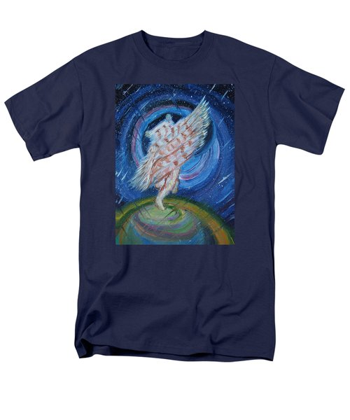 Men's T-Shirt  (Regular Fit) featuring the painting Joyfully My Father Comes To See Me by Dawn Senior-Trask
