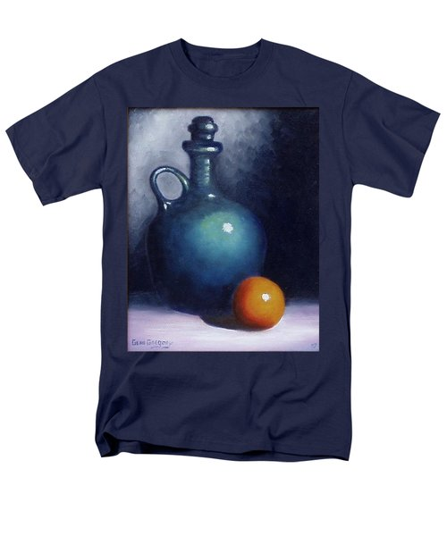 Men's T-Shirt  (Regular Fit) featuring the painting Jug And Orange. by Gene Gregory