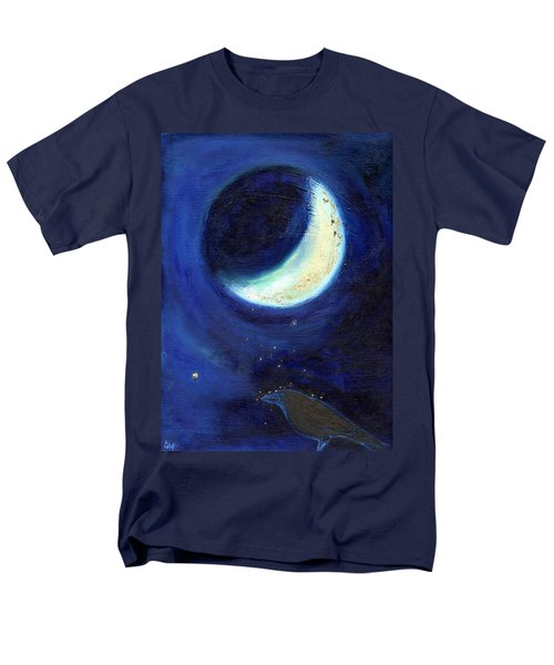 July Moon Men's T-Shirt  (Regular Fit) by Nancy Moniz