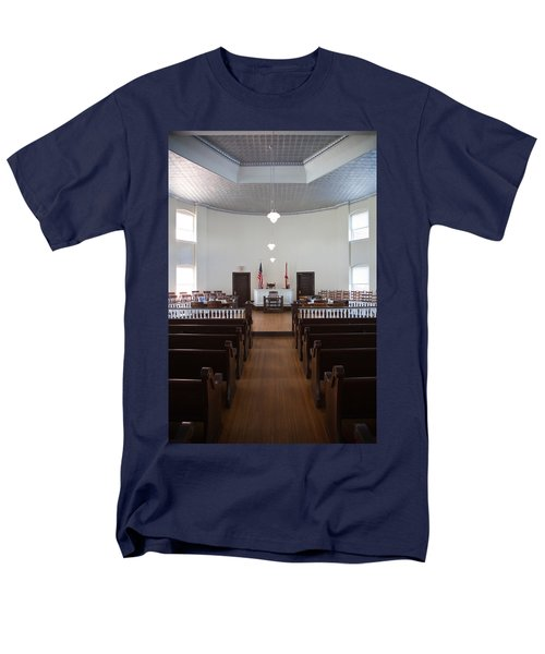 Jury Box In A Courthouse, Old Men's T-Shirt  (Regular Fit) by Panoramic Images