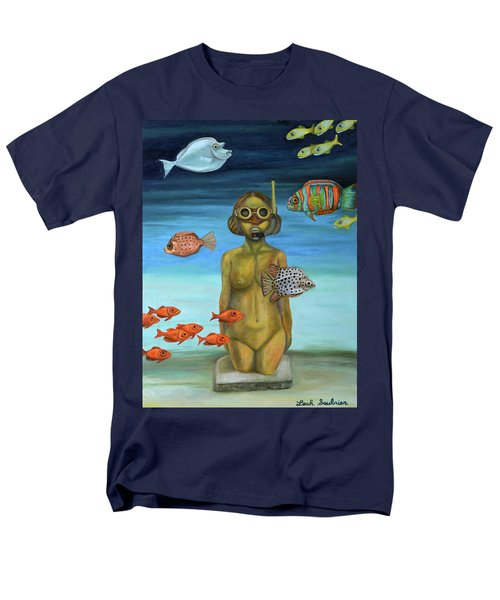 Men's T-Shirt  (Regular Fit) featuring the painting Just Breathe by Leah Saulnier The Painting Maniac