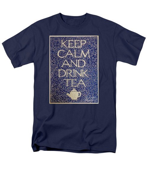 Keep Calm And Drink Tea Men's T-Shirt  (Regular Fit) by Donna Huntriss