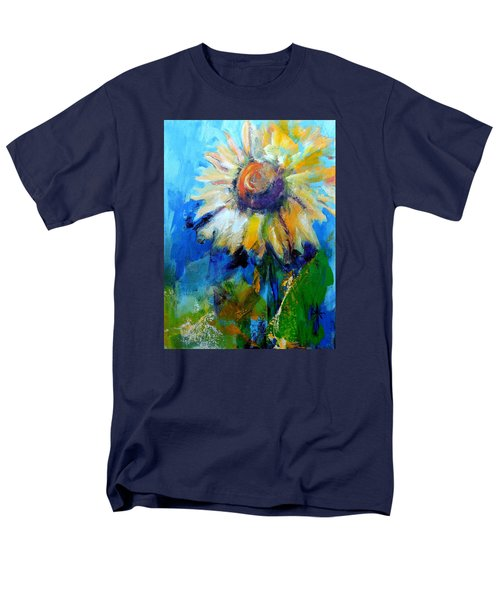 Men's T-Shirt  (Regular Fit) featuring the painting Kellie's Sunflower by Jodie Marie Anne Richardson Traugott          aka jm-ART