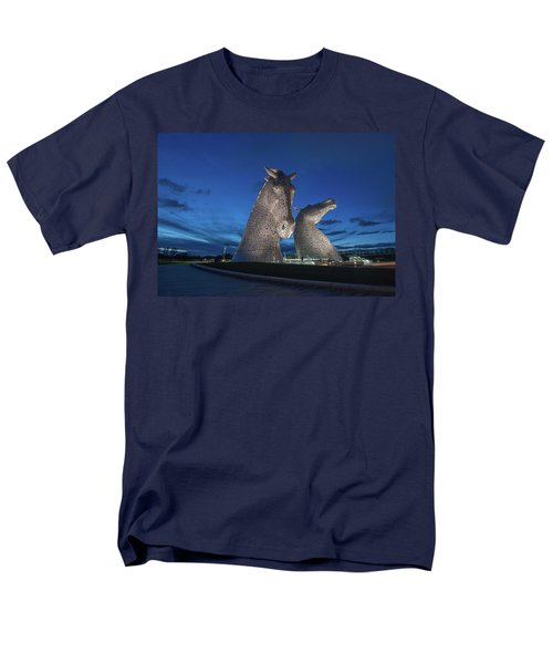 Men's T-Shirt  (Regular Fit) featuring the photograph Kelpies  by Terry Cosgrave