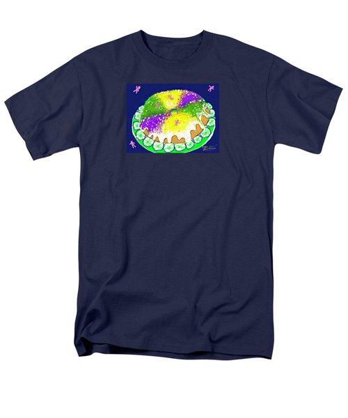 Men's T-Shirt  (Regular Fit) featuring the digital art King Cake by Jean Pacheco Ravinski