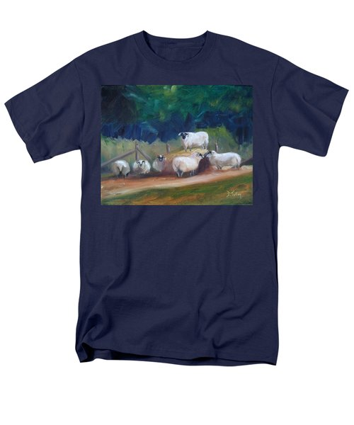 Men's T-Shirt  (Regular Fit) featuring the painting King Of Green Hill Farm by Donna Tuten
