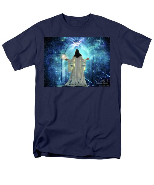 Men's T-Shirt  (Regular Fit) featuring the digital art Knocking On Heavens Door by Dolores Develde