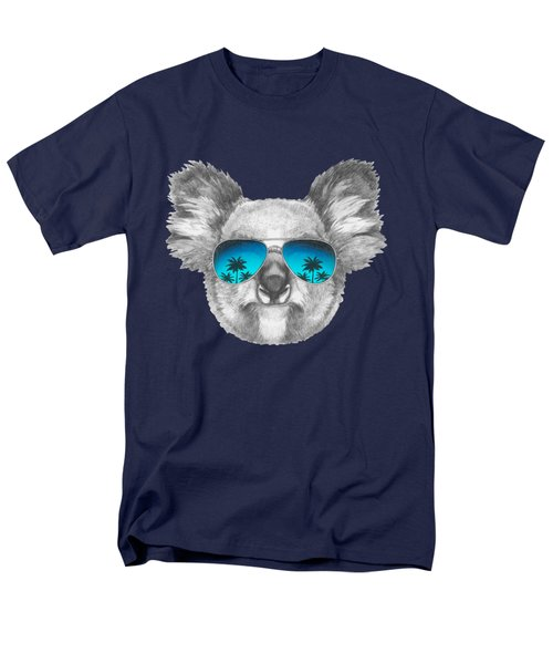 Koala With Mirror Sunglasses Men's T-Shirt  (Regular Fit) by Marco Sousa