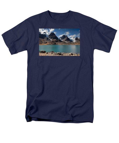Laguna Chiar Khota In Condoriri Mountains Men's T-Shirt  (Regular Fit) by Aivar Mikko