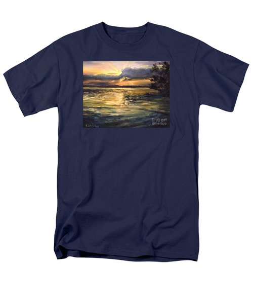 Men's T-Shirt  (Regular Fit) featuring the painting Lake by Arturas Slapsys
