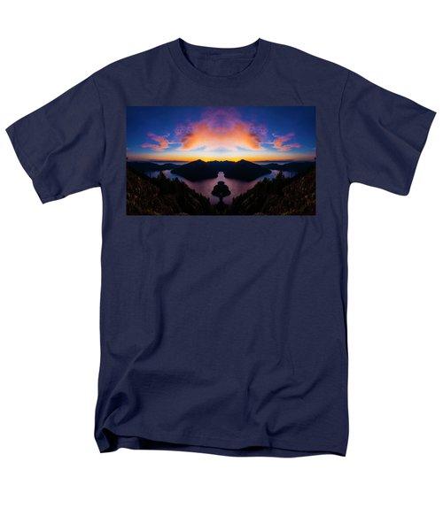 Lake Crescent Reflection Men's T-Shirt  (Regular Fit) by Pelo Blanco Photo