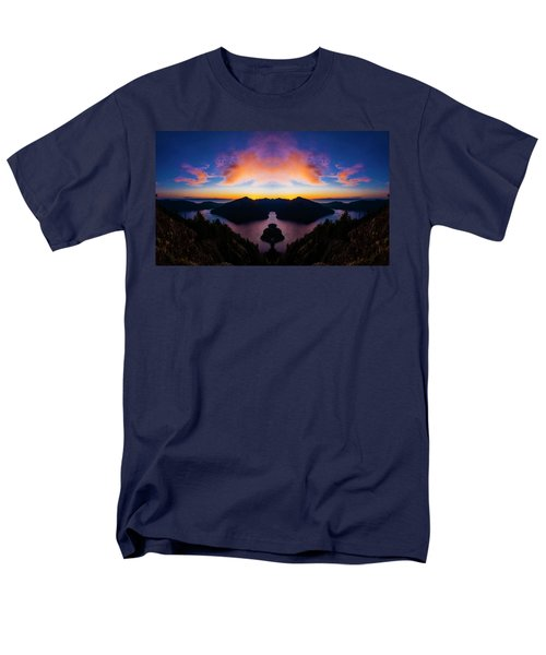 Lake Crescent Reflection Men's T-Shirt  (Regular Fit)
