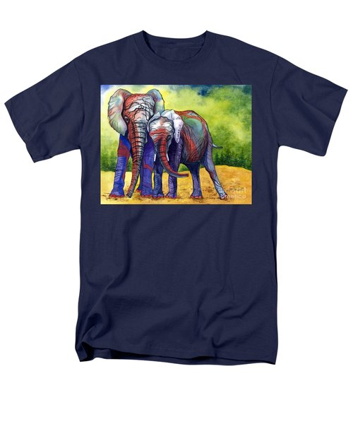 Men's T-Shirt  (Regular Fit) featuring the painting Lean On Me by Barbara Jewell