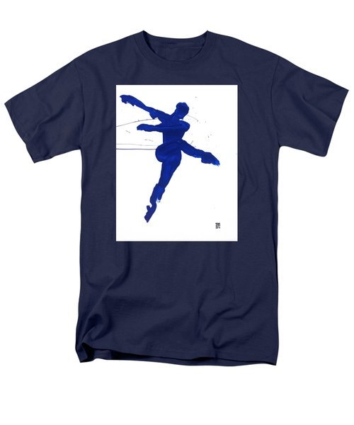 Leap Brush Blue 1 Men's T-Shirt  (Regular Fit) by Shungaboy X