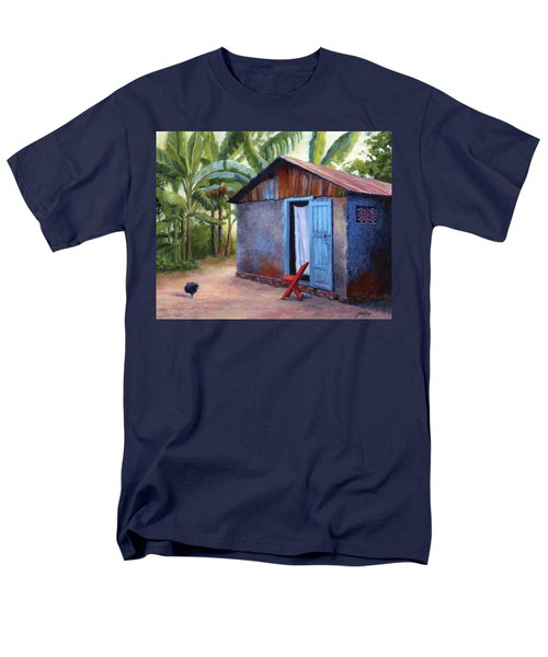 Men's T-Shirt  (Regular Fit) featuring the painting Life In Haiti by Janet King