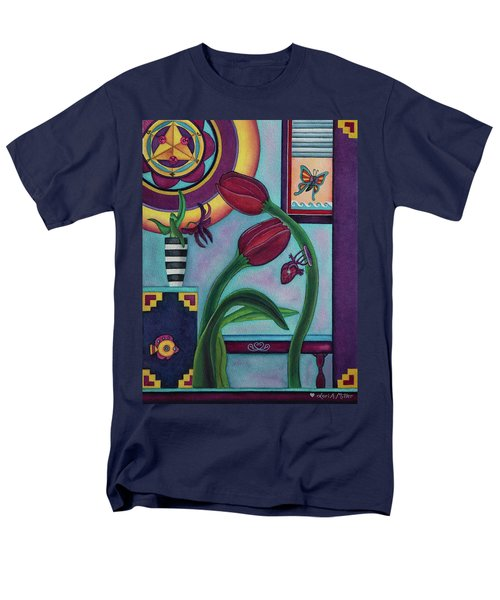 Men's T-Shirt  (Regular Fit) featuring the painting Lifting And Loving Each Other by Lori Miller