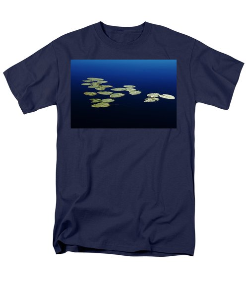 Men's T-Shirt  (Regular Fit) featuring the photograph Lily Pads Floating On River by Debbie Oppermann