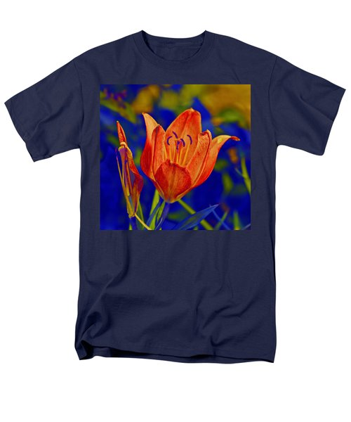 Men's T-Shirt  (Regular Fit) featuring the photograph Lily With Sabattier by Bill Barber