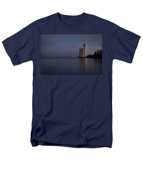 Lisbon Night Scene Men's T-Shirt  (Regular Fit) by Marion McCristall