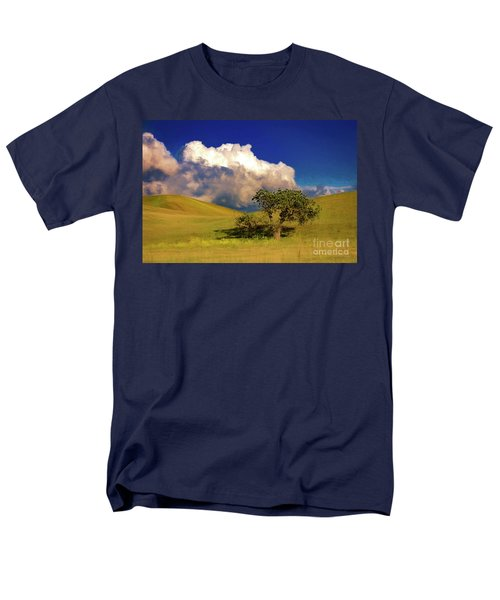 Men's T-Shirt  (Regular Fit) featuring the photograph Lone Tree With Storm Clouds by John A Rodriguez