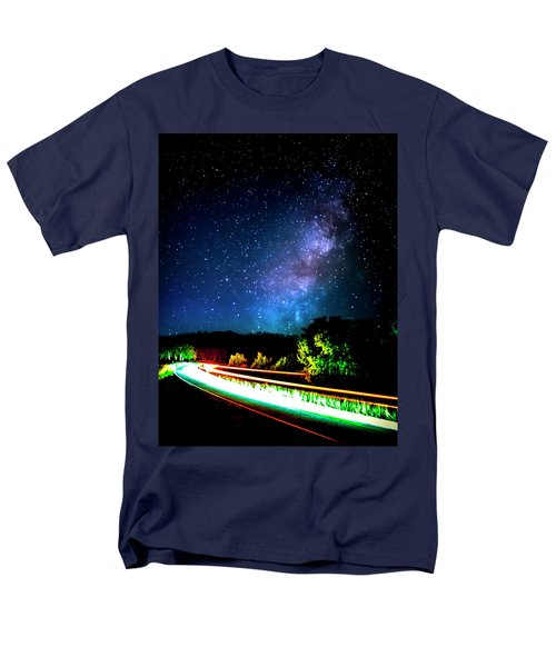 Men's T-Shirt  (Regular Fit) featuring the photograph Lonesome Texas Highway by David Morefield