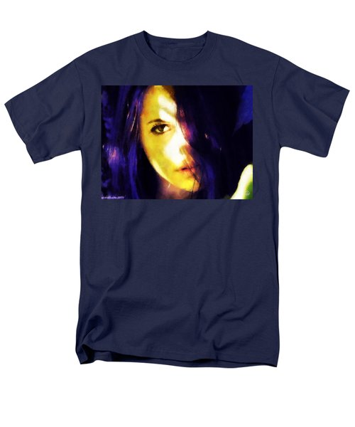 Men's T-Shirt  (Regular Fit) featuring the digital art Looking At The World With One Eye Is Enough by Gun Legler