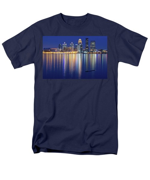 Louisville During Blue Hour Men's T-Shirt  (Regular Fit) by Frozen in Time Fine Art Photography