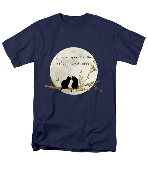 Love You To The Moon And Back Men's T-Shirt  (Regular Fit)