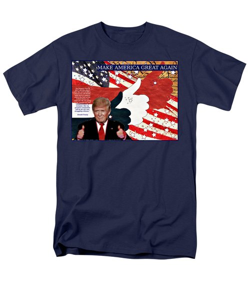 Men's T-Shirt  (Regular Fit) featuring the digital art Make America Great Again - President Donald Trump by Glenn McCarthy Art and Photography
