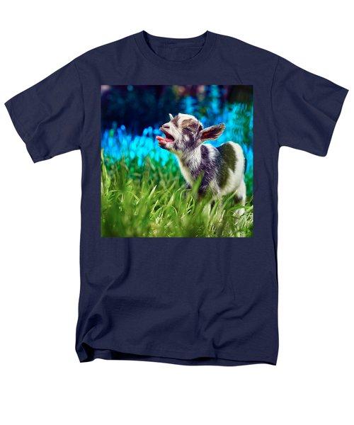 Baby Goat Kid Singing Men's T-Shirt  (Regular Fit) by TC Morgan