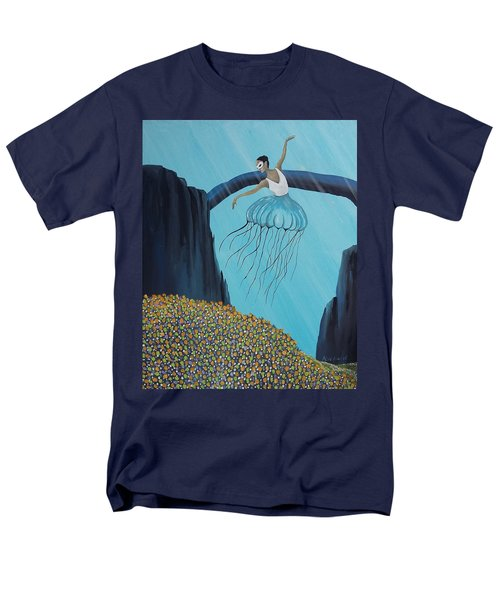 Men's T-Shirt  (Regular Fit) featuring the painting Mare Ballerina by Edwin Alverio