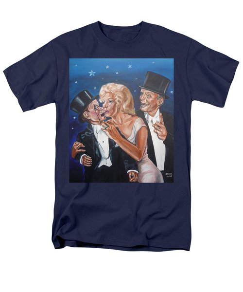 Men's T-Shirt  (Regular Fit) featuring the painting Marilyn Monroe Marries Charlie Mccarthy by Bryan Bustard