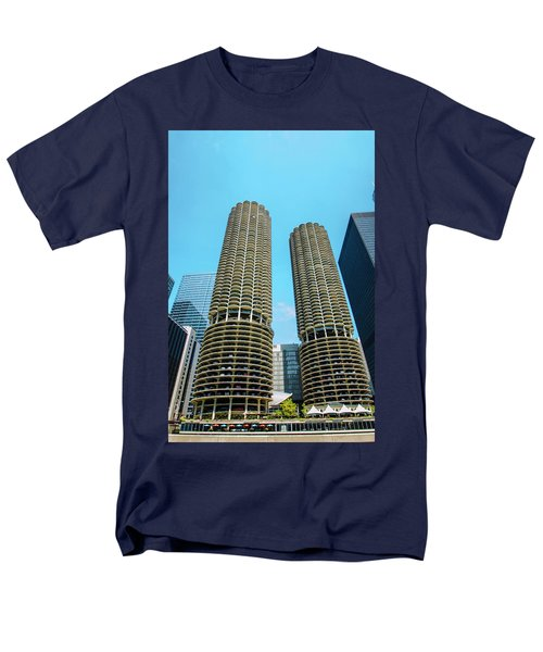 Men's T-Shirt  (Regular Fit) featuring the photograph Marina City Chicago by Deborah Smolinske