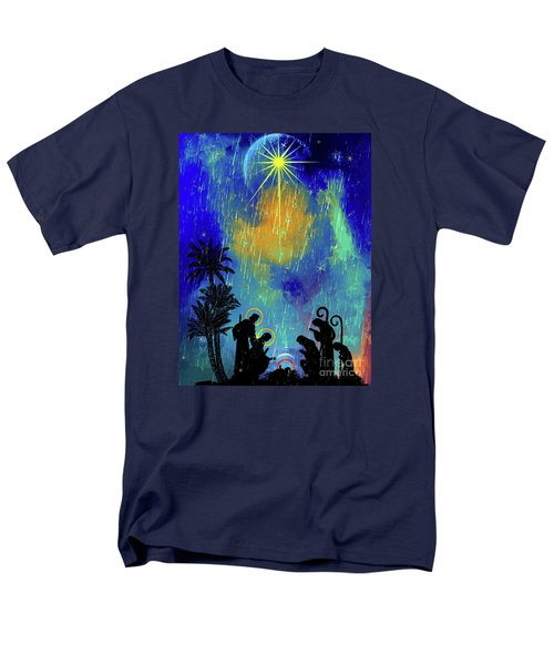 Men's T-Shirt  (Regular Fit) featuring the painting  Merry Christmas To All. by Andrzej Szczerski
