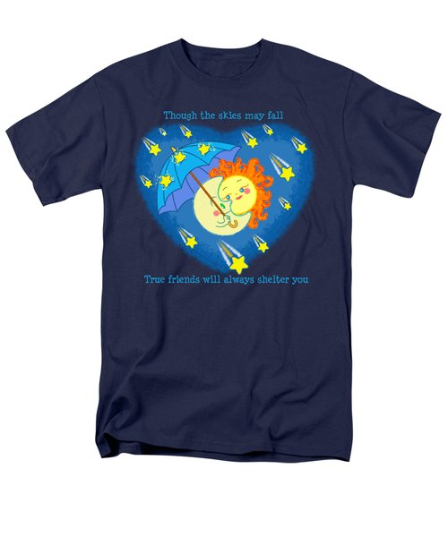Men's T-Shirt  (Regular Fit) featuring the digital art Meteor Shower 3 by J L Meadows