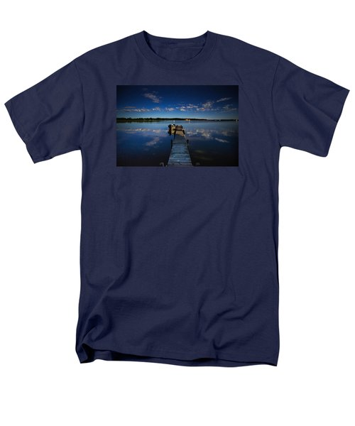 Midnight At Shady Shore On Moose Lake Minnesota Men's T-Shirt  (Regular Fit) by Alex Blondeau