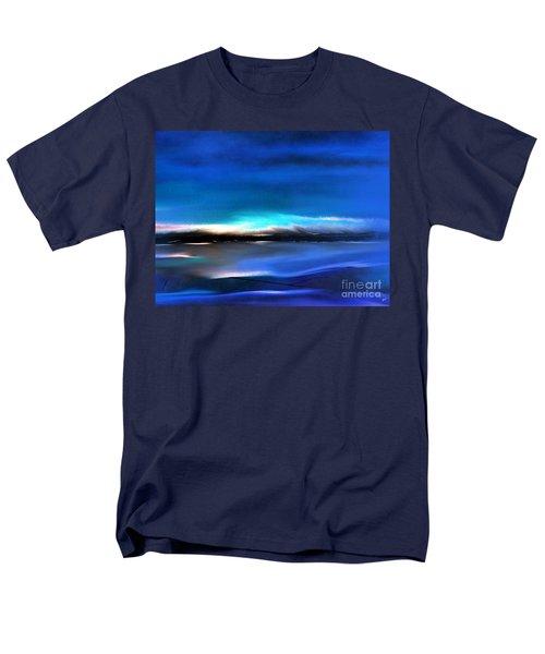 Midnight Blue Men's T-Shirt  (Regular Fit) by Yul Olaivar