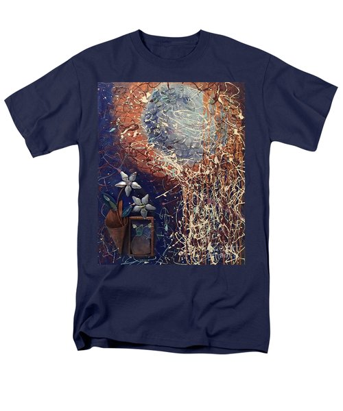 Midnight Flowers Men's T-Shirt  (Regular Fit) by Gallery Messina