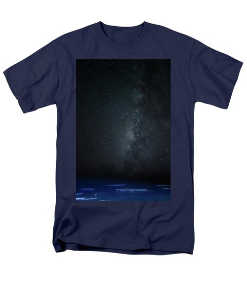 Milky Way Over Poipu Beach Men's T-Shirt  (Regular Fit) by Roger Mullenhour