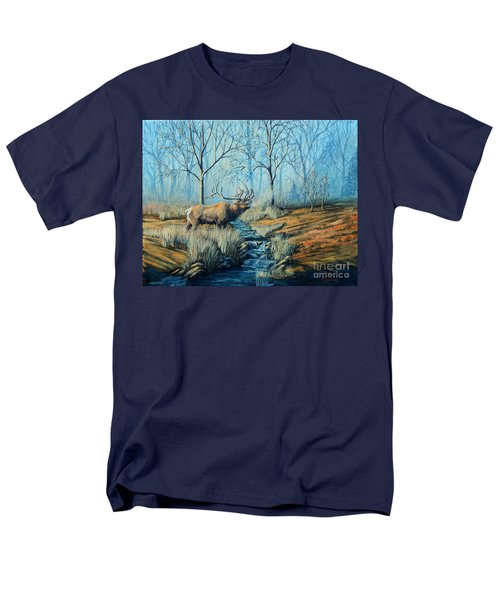 Misty Morning Bugler Men's T-Shirt  (Regular Fit) by Ruanna Sion Shadd a'Dann'l Yoder