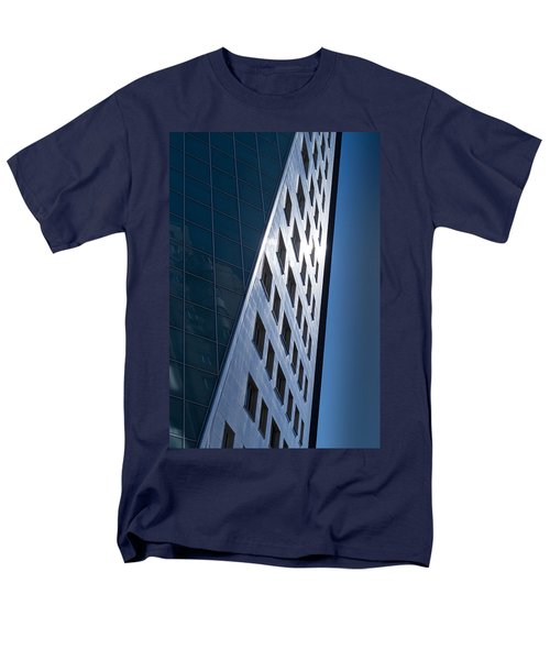 Men's T-Shirt  (Regular Fit) featuring the photograph Blue Modern Apartment Building by John Williams