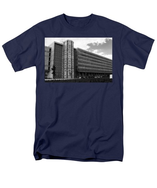 Men's T-Shirt  (Regular Fit) featuring the photograph Modern Lisbon - The Palace Of Justice by Lorraine Devon Wilke