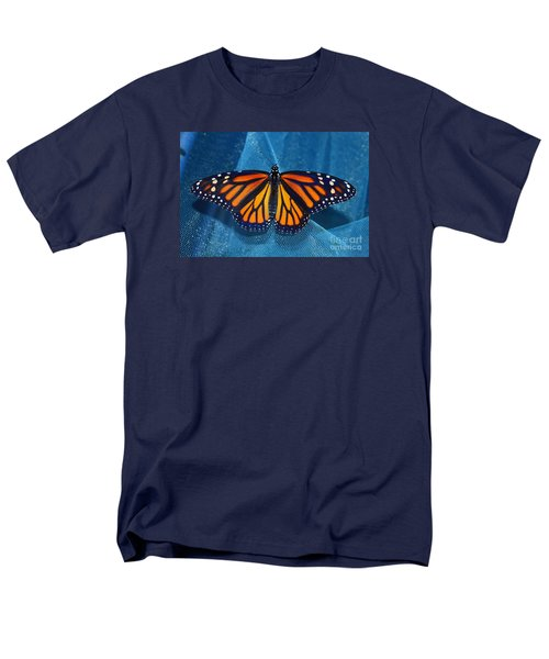 Men's T-Shirt  (Regular Fit) featuring the photograph Monarch Royalty by Lew Davis