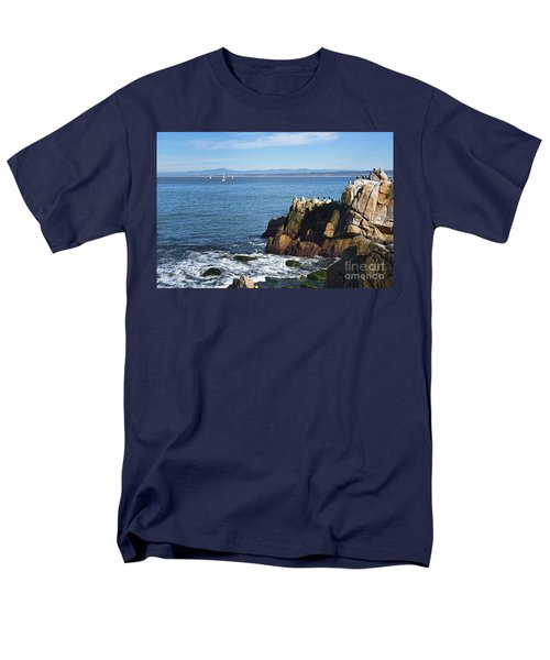 Men's T-Shirt  (Regular Fit) featuring the photograph Monterey Bay by Gina Savage