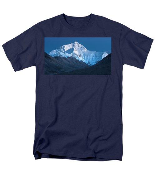 Mount Everest At Blue Hour, Rongbuk, 2007 Men's T-Shirt  (Regular Fit) by Hitendra SINKAR