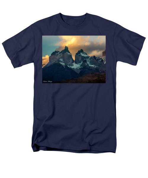 Men's T-Shirt  (Regular Fit) featuring the photograph Mountain Evening by Andrew Matwijec
